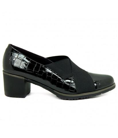 Zapato tacón elástico...